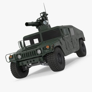 HMMWV TOW Missile Carrier M966 Simple Interior