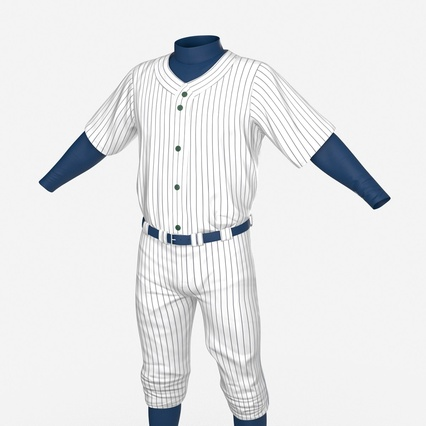 Baseball Player Outfit Generic 8. Render 15