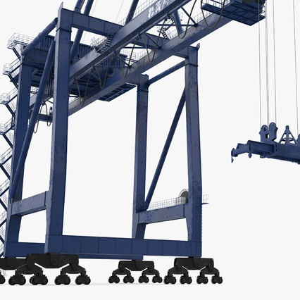 Container Crane Blue. Render 14