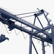 Container Crane Blue. Preview 15