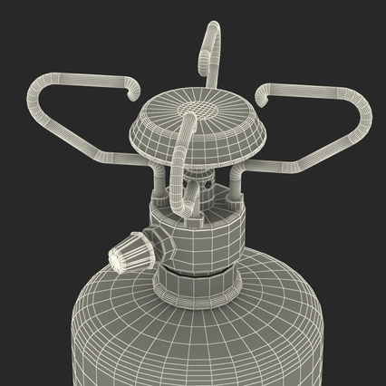 Gas Cylinder with Camping Stove Kovea. Render 20