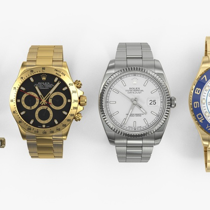 Rolex Watches Collection. Render 6