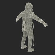 Russian Astronaut Wearing Space Suit Sokol KV2 Rigged for Maya. Preview 57