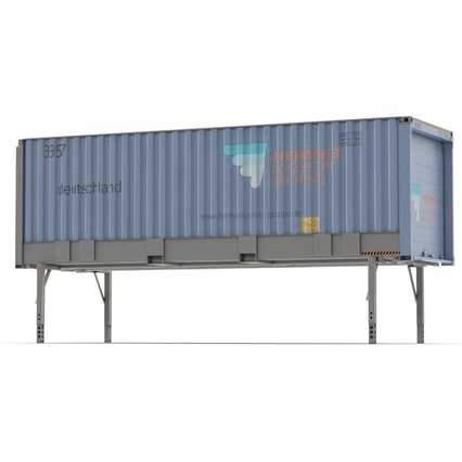 Swap Body Container ISO Blue. Render 3