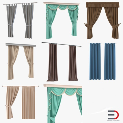 Curtains Collection. Render 1