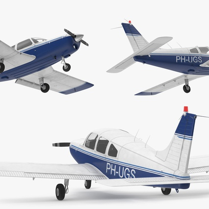 Piper PA-28-161 Cherokee Rigged. Render 12