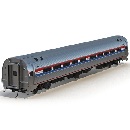 Railroad Amtrak Passenger Car 2. Render 14
