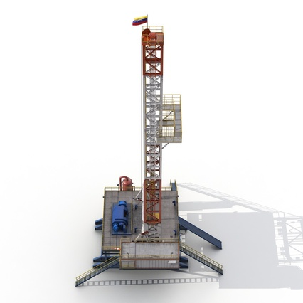 Fracking Gas Platform. Render 15