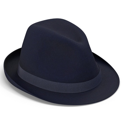 Fedora Hat Blue. Render 16