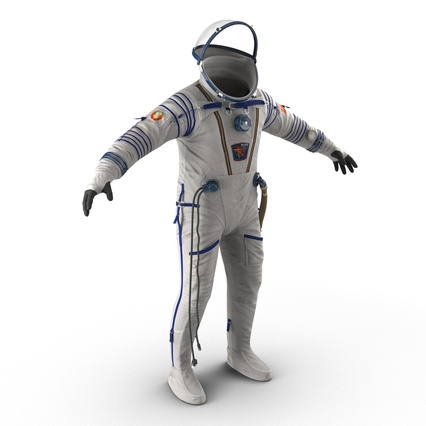Russian Space Suit Sokol KV2 Rigged. Render 10