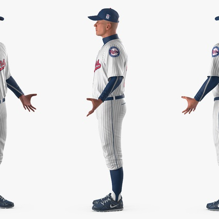 Baseball Player Rigged Twins 2. Render 9