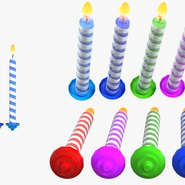 Birthday Candles with Flame Set. Preview 10