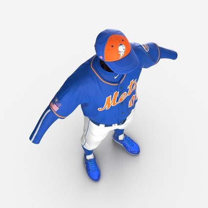 Baseball Player Outfit Mets 2. Render 13