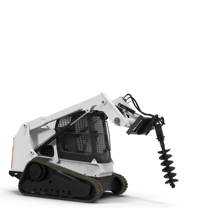 Compact Tracked Loader with Auger. Render 4