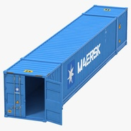 53 ft Shipping ISO Container Blue 2