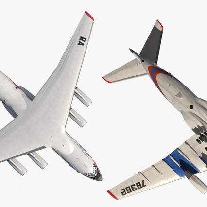 Ilyushin Il-76 Emergency Russian Air Force Rigged. Render 19