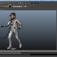 Russian Astronaut Wearing Space Suit Sokol KV2 Rigged for Maya. Preview 49