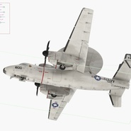 Grumman E-2 Hawkeye Tactical Early Warning Aircraft Rigged. Preview 21