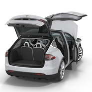 Tesla Model X Rigged. Preview 22