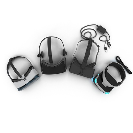Virtual Reality Goggles Collection. Render 8