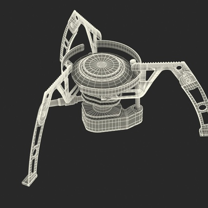 Folding Portable Camping Gas Stove. Render 18
