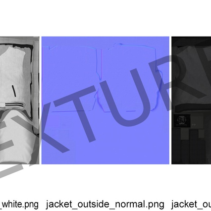 White Baseball Jacket. Render 12