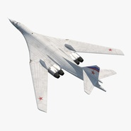 Strategic Bomber Tupolev Tu-160 Blackjack Rigged