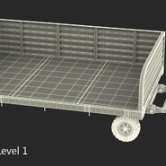 Airport Luggage Trolley Rigged. Preview 22