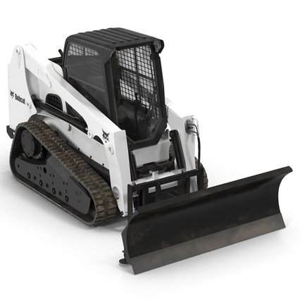 Compact Tracked Loader Bobcat With Blade. Render 7