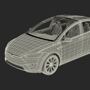 Tesla Model X Rigged. Preview 91