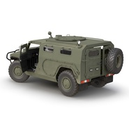 Russian Mobility Vehicle GAZ Tigr M Rigged. Preview 12