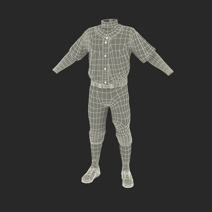Baseball Player Outfit Generic 8. Render 4