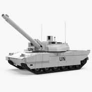 Tank AMX-56 Leclerc United Nations Rigged