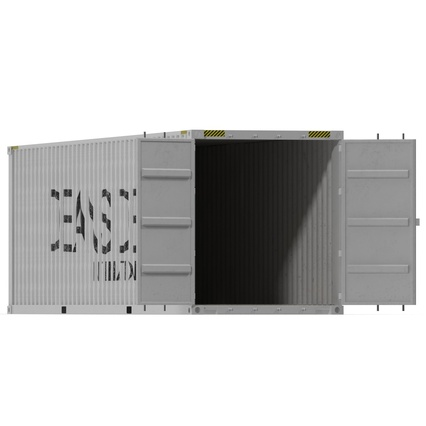 40 ft High Cube Container White. Render 6