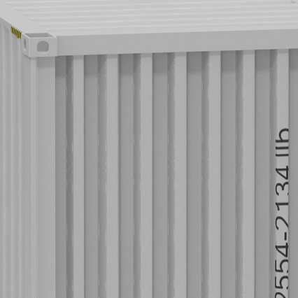 40 ft High Cube Container White. Render 28
