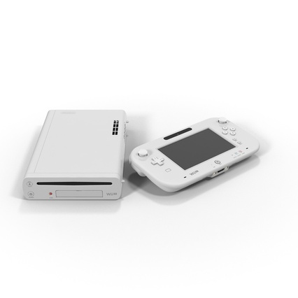 Nintendo Wii U Set White. Render 3