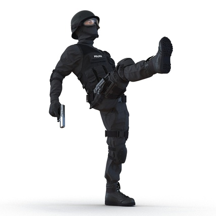 SWAT Man Mediterranean Rigged for Maya. Render 6