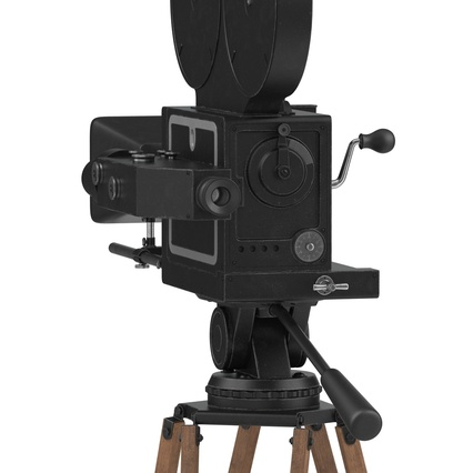 Vintage Video Camera and Tripod. Render 19