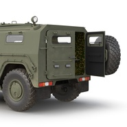 Russian Mobility Vehicle GAZ Tigr M Rigged. Preview 32