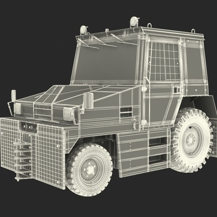 Push Back Tractor Hallam HE50 Rigged. Render 3