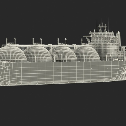 Gas Carrier Ship. Render 4