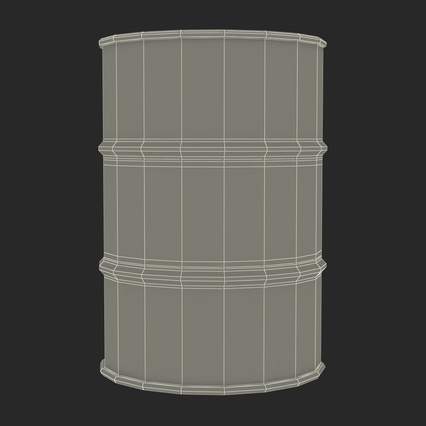 Oil Drum 200l Blue. Render 19