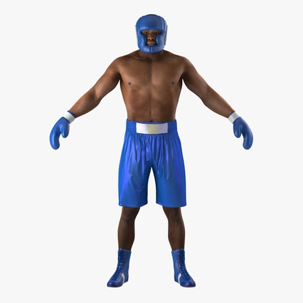 African American Boxer Rigged for Cinema 4D. Render 3