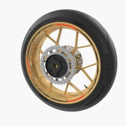 Sport Motorcycle Back Wheel. Preview 3