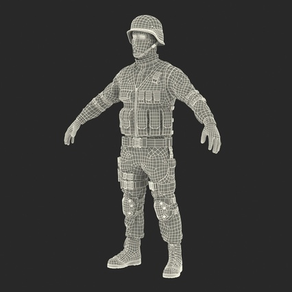 SWAT Man Mediterranean Rigged for Maya. Render 50