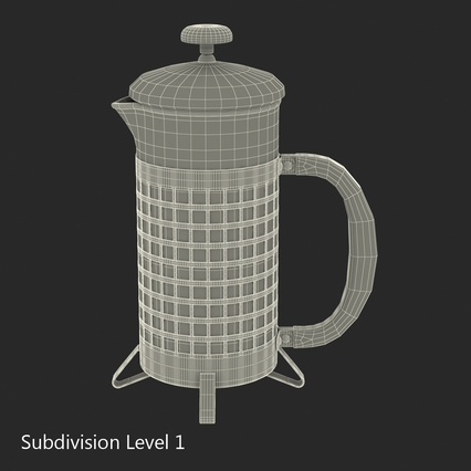 French Press. Render 33