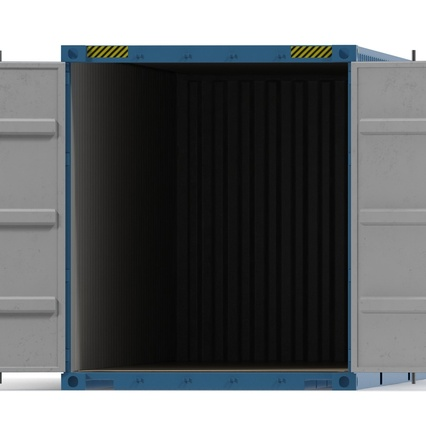 40 ft High Cube Container Blue 2. Render 28