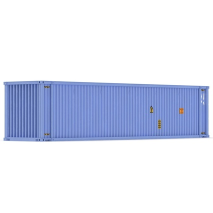 45 ft High Cube Container Blue. Render 8