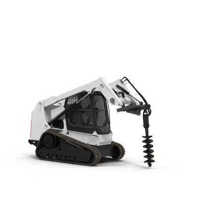 Compact Tracked Loader with Auger. Render 17