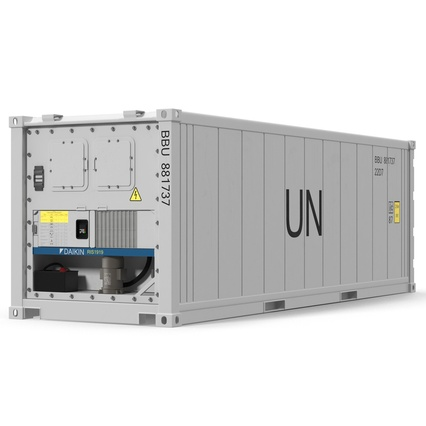 ISO Refrigerated Container. Render 2